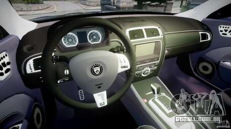 Jaguar XKR-S para GTA 4 vista de volta