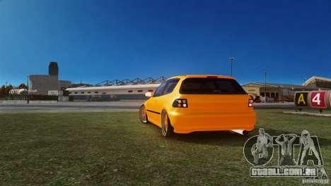 Honda Civic Tuned para GTA 4 traseira esquerda vista