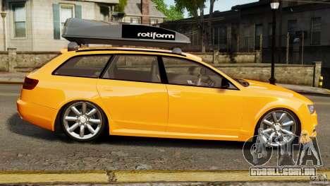 Audi A6 Avant Stanced 2012 v2.0 para GTA 4 esquerda vista