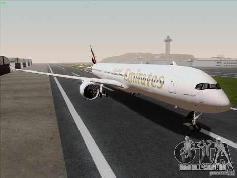 Airbus A350-900 Emirates para GTA San Andreas vista direita