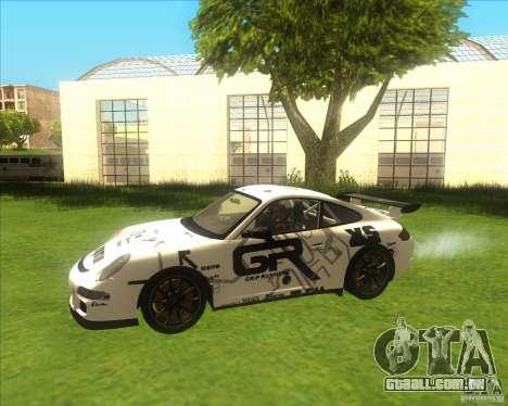 Porsche 997 GT3 RS para vista lateral GTA San Andreas
