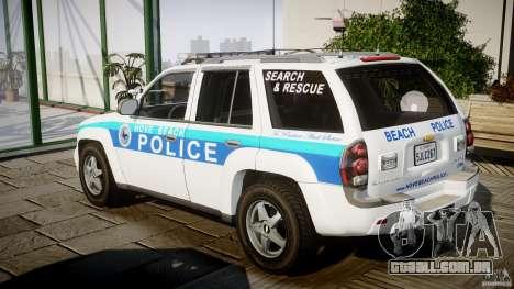 Chevrolet Trailblazer Police V1.5PD [ELS] para GTA 4 traseira esquerda vista