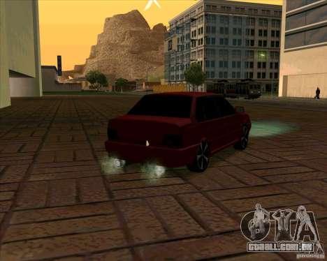 Vaz-2115 para GTA San Andreas traseira esquerda vista