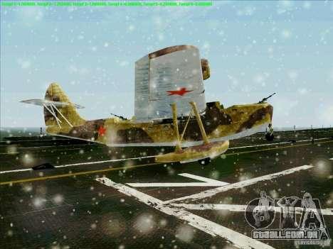 MBR-2 para GTA San Andreas traseira esquerda vista