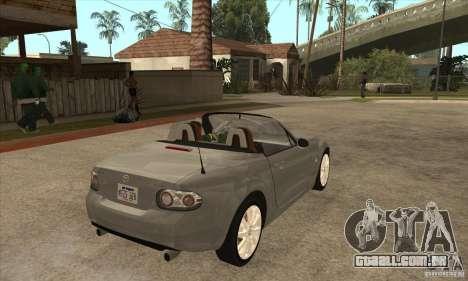 Mazda MX-5 2007 para GTA San Andreas vista direita