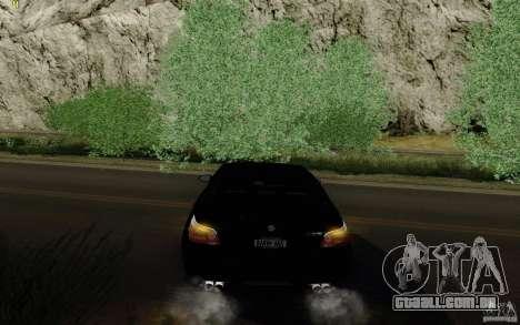 BMW M5 2009 para GTA San Andreas vista traseira
