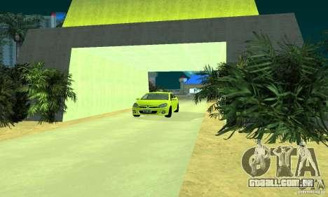 Opel Astra GTS para GTA San Andreas traseira esquerda vista