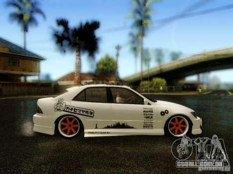 Lexus IS300 Jap style para GTA San Andreas vista direita