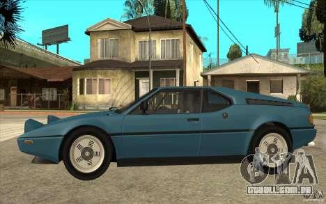 BMW M1 1981 para GTA San Andreas esquerda vista