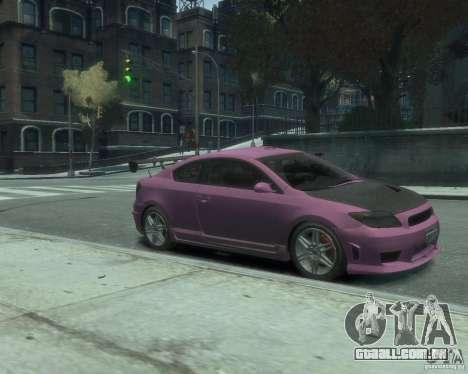 Toyota Scion Tc 2.4 para GTA 4 traseira esquerda vista