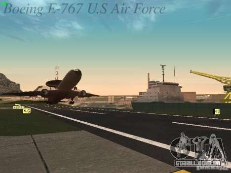 Boeing E-767 U.S Air Force para GTA San Andreas interior