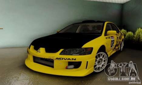 Mitsubishi Lancer Evolution 8 Tuneable para GTA San Andreas vista traseira