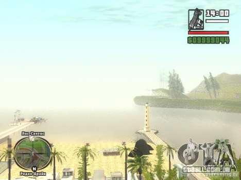 Nova Verona de bar de praia para GTA San Andreas por diante tela