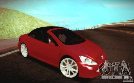 Peugeot 307CC BMS Edition para portáteis para vista lateral GTA San Andreas