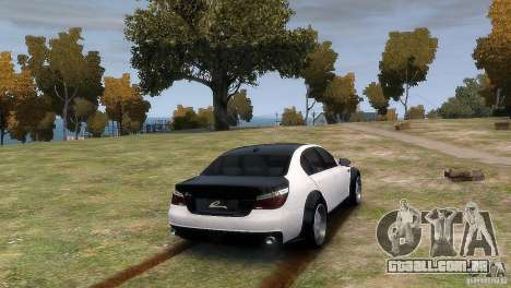 BMW M5 Lumma para GTA 4 esquerda vista