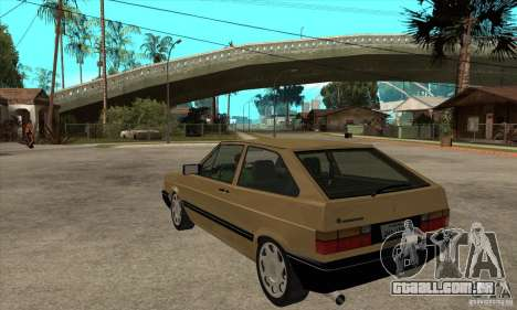 VW Gol GL 1.8 1989 para GTA San Andreas traseira esquerda vista