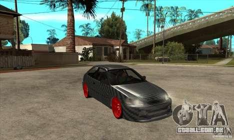 Honda Civic Carbon Latvian Skin para GTA San Andreas vista interior