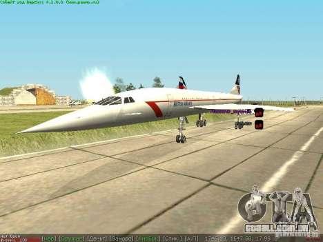 Concorde [FINAL VERSION] para GTA San Andreas vista direita