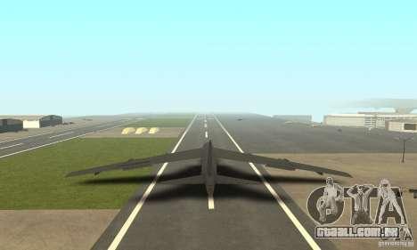 Boeing B-52H Stratofortress para GTA San Andreas esquerda vista