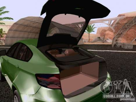 BMW X6 LT para vista lateral GTA San Andreas