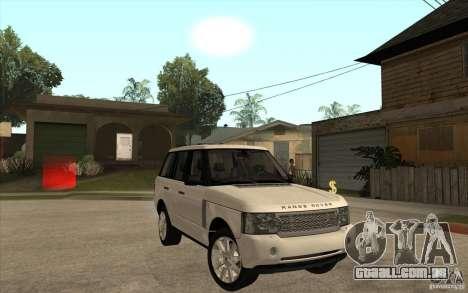 Range Rover Supercharged 2008 para GTA San Andreas vista traseira