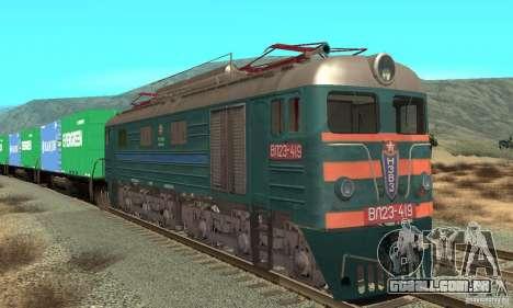 Locomotiva VL23-419 para GTA San Andreas esquerda vista