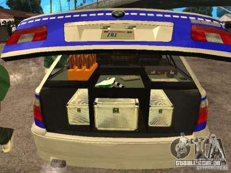 BMW 525i Touring Police para GTA San Andreas vista traseira
