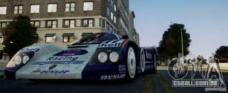 Porsche 962 para GTA 4 esquerda vista