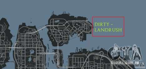 DiRTY - LandRush para GTA 4 décimo tela