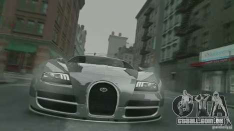 Bugatti Veyron 16.4 Super Sport para GTA 4 vista lateral
