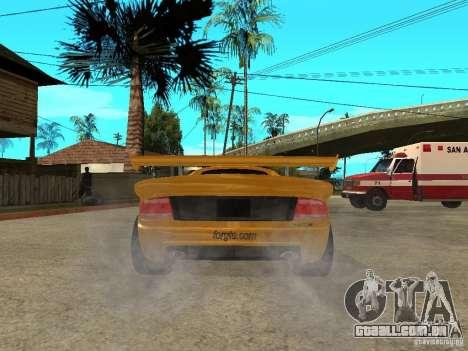 Noble M12 GTO Beta para GTA San Andreas traseira esquerda vista