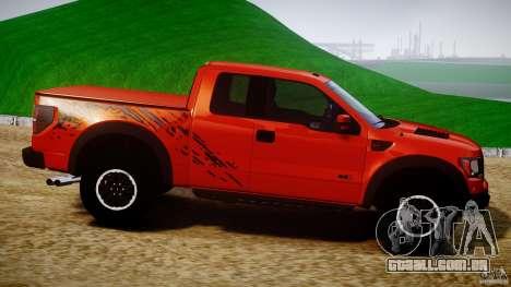 Ford F150 SVT Raptor 2011 para GTA 4 vista lateral