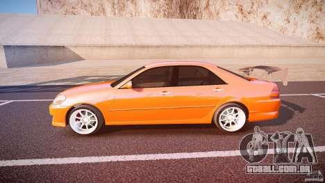 Toyota JZX110 para GTA 4 esquerda vista