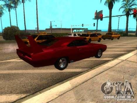 Dodge Charger Daytona Fast & Furious 6 para GTA San Andreas traseira esquerda vista