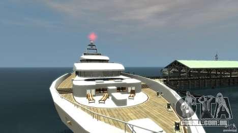Yacht v1 para GTA 4 traseira esquerda vista
