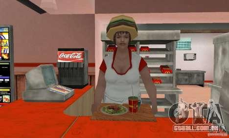 Restaurantes McDonals para GTA San Andreas nono tela