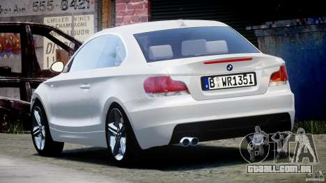 BMW 135i Coupe 2009 [Final] para GTA 4 traseira esquerda vista