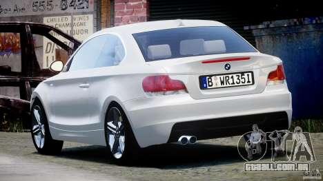 BMW 135i Coupe 2009 [Final] para GTA 4 traseira esquerda vista