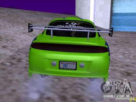 Mitsubishi Eclipse 1998 - FnF para GTA San Andreas vista direita