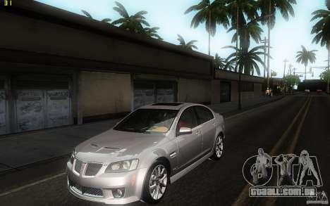 Pontiac G8 GXP 2009 para GTA San Andreas