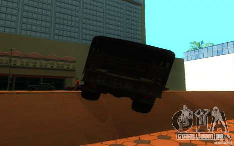 GAZ 66 para GTA San Andreas vista direita