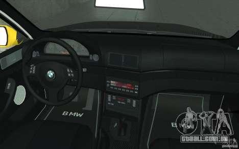 BMW M5 E39 - FnF4 para GTA San Andreas vista superior