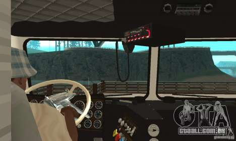 White Freightliner Extended Wheel Base para GTA San Andreas vista direita