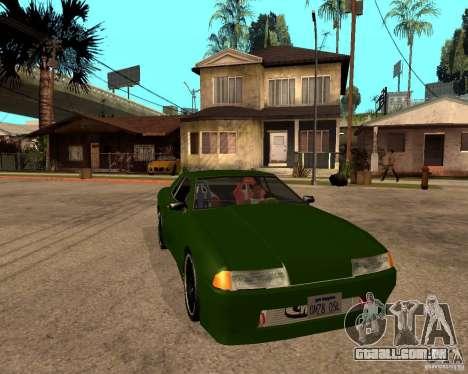 Elegy Green Line para GTA San Andreas vista direita
