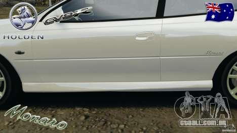 Holden Monaro CV8-R para GTA 4 motor