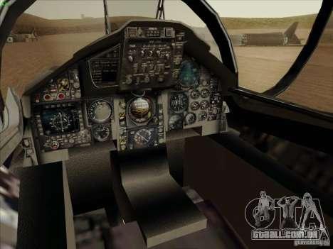 F-15 SMTD para GTA San Andreas vista interior