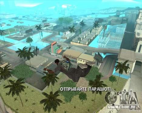 Rockstar de pára-quedas (camuflagem) para GTA San Andreas segunda tela