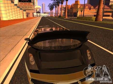Lamborghini Gallardo Underground Racing para GTA San Andreas vista superior