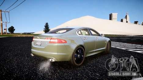 Jaguar XFR 2010 para GTA 4 traseira esquerda vista