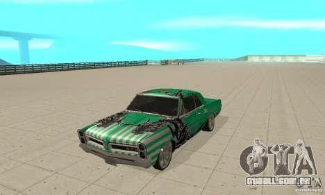 Pontiac GTO 1965 Speed King-NFS Pro Street para GTA San Andreas esquerda vista